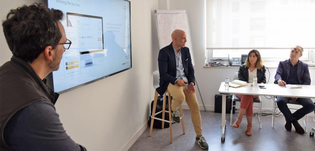 Israel Ruesga fue el encargado de dirigir la sesión sobre Amazon Advertising.