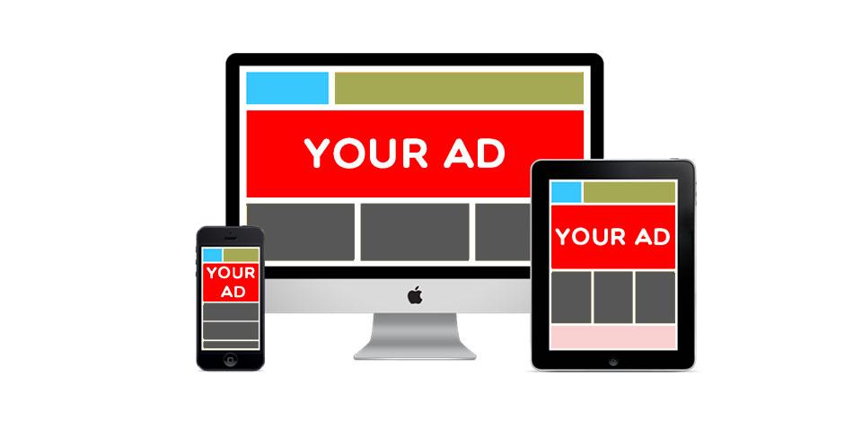 Ejemplos de publicidad display en distintos dispositivos.