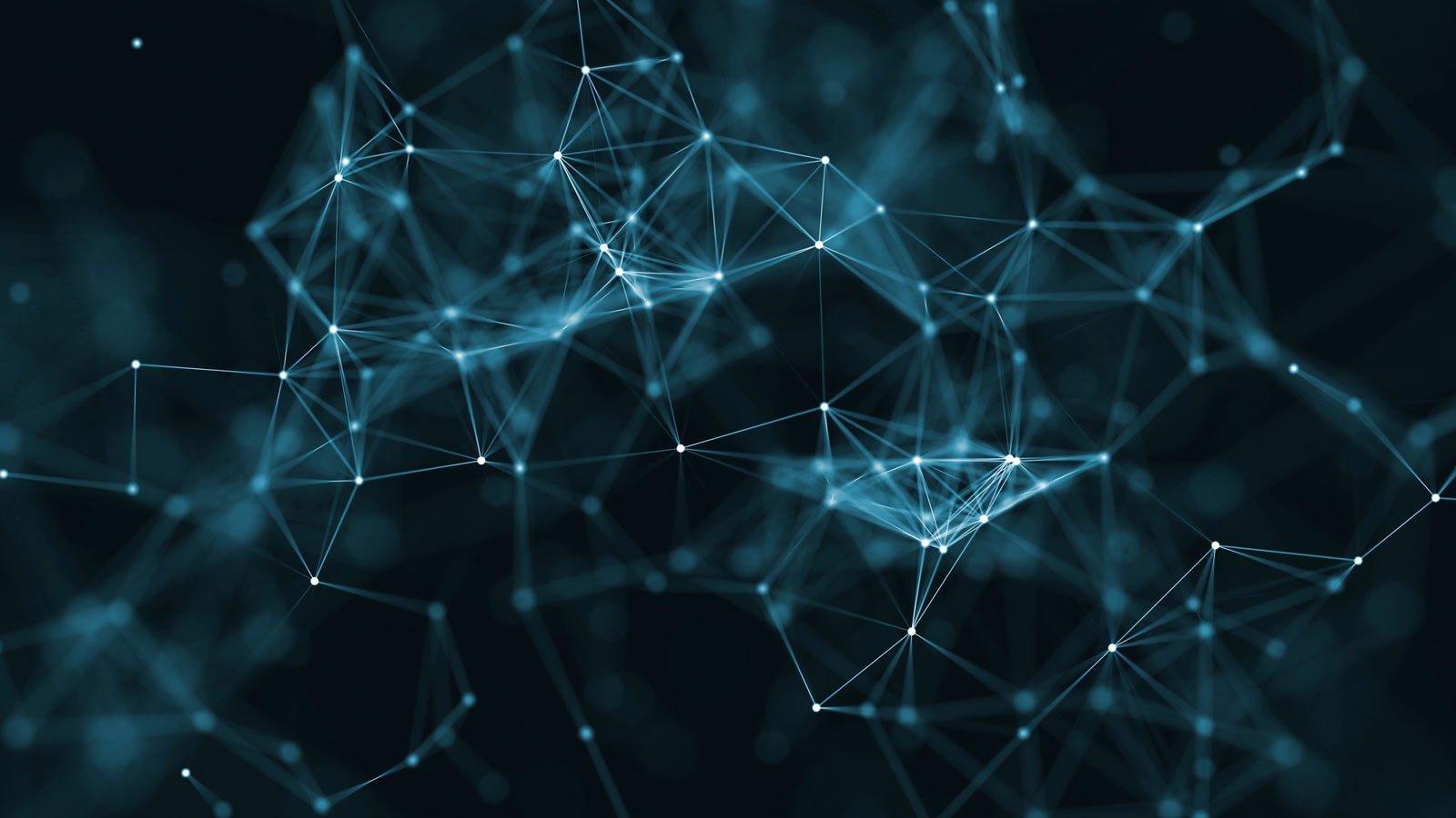 Fondo neutral de nodos interconectados